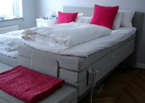 Double bed - user's bed elevated