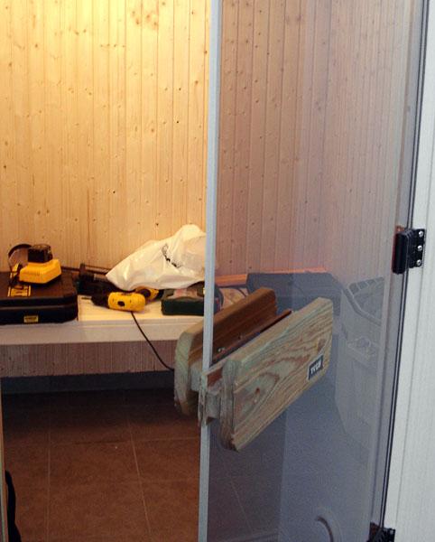 Accessible sauna