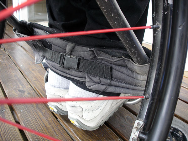 Wheelchair – adapted calf strap