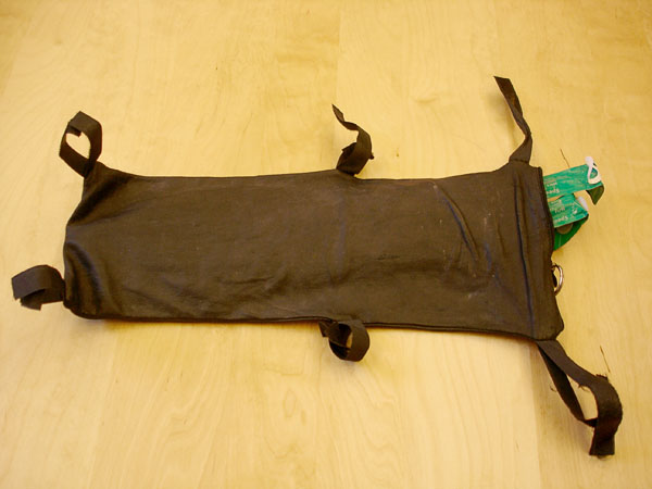 Catheter bag with attachment strap