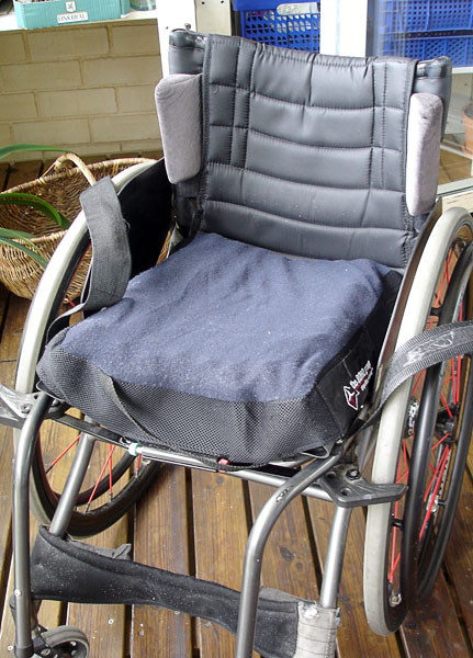 Back wedges on wheelchair
