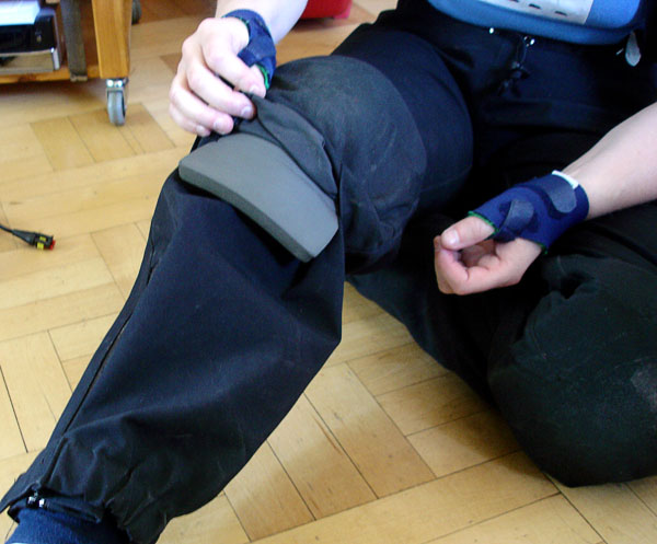 Knee guard with foam rubber pad