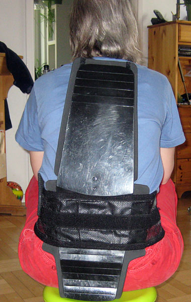 The user with soft back support