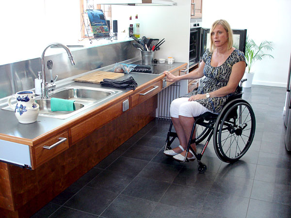 Accessible kitchen in newly built house