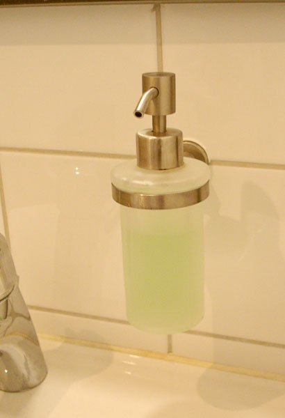 Soap pump (close-up)