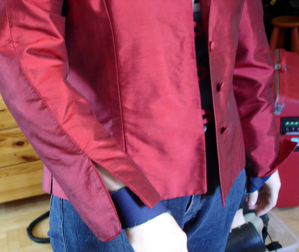Jacket but cuffs folded down