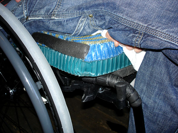 Adapted wheelchair cushion