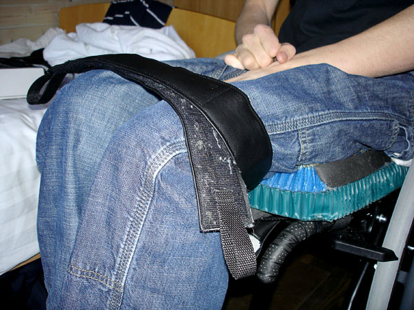 Strap as assistive device for transfers
