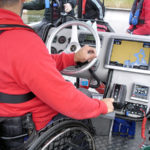 Console in adapted boat