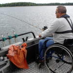 Fishing on accessible boat