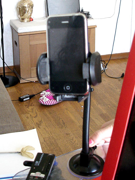 Smartphone with holder