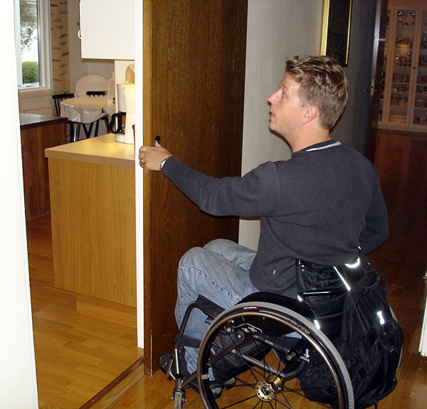Sliding doors in accessible housing