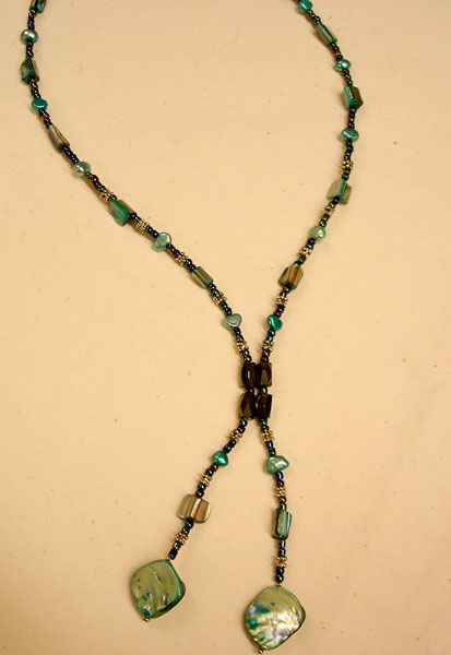 Necklace with magnetic clasp