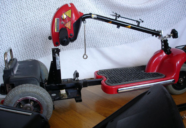 Scooter with handlebar folded