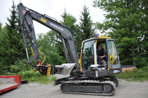 Adapted excavator