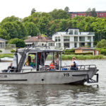 Motorboat adapted for skipper with extensive disabilities