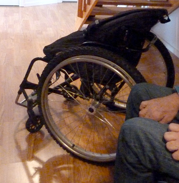 Wheelchair with winter tires