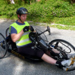 Use of arm cycle outdoors
