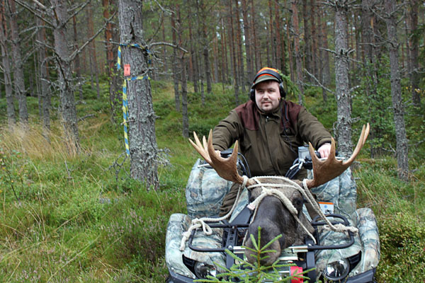 User hunting with a quad bike. Photo: Marcus Jardler