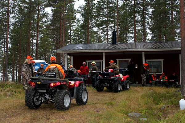 Quad bikes in the forest. Photo from www.rullarnas.se