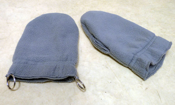 Specially-sewn mittens