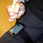 Stylus touch pen in universal strap