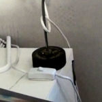 Accessible placement of power switch for desk lamp