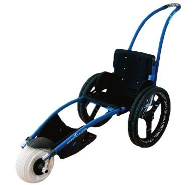 Hippocampe beach wheelchair. Photo from www.mincrosser.se