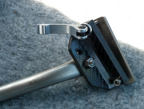 Quick coupler to brake lever