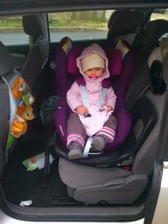 Child in rotated car seat. Photo from www.pinterest.com