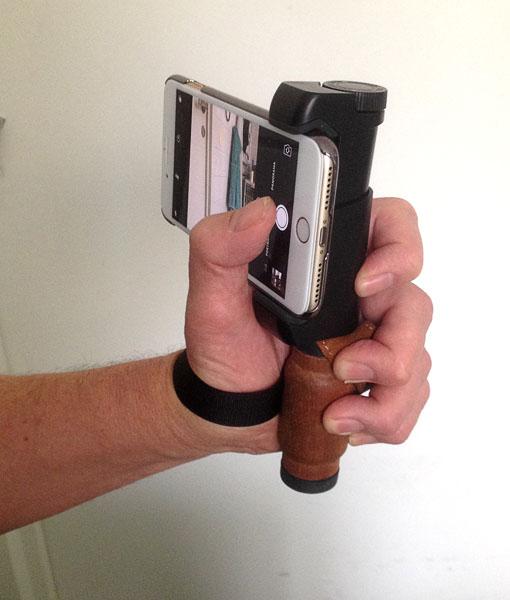 Fotografering med iPhone 7 plus med handtag