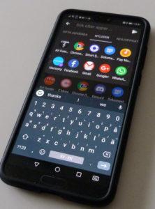 Textinmatning Gboard på telefon