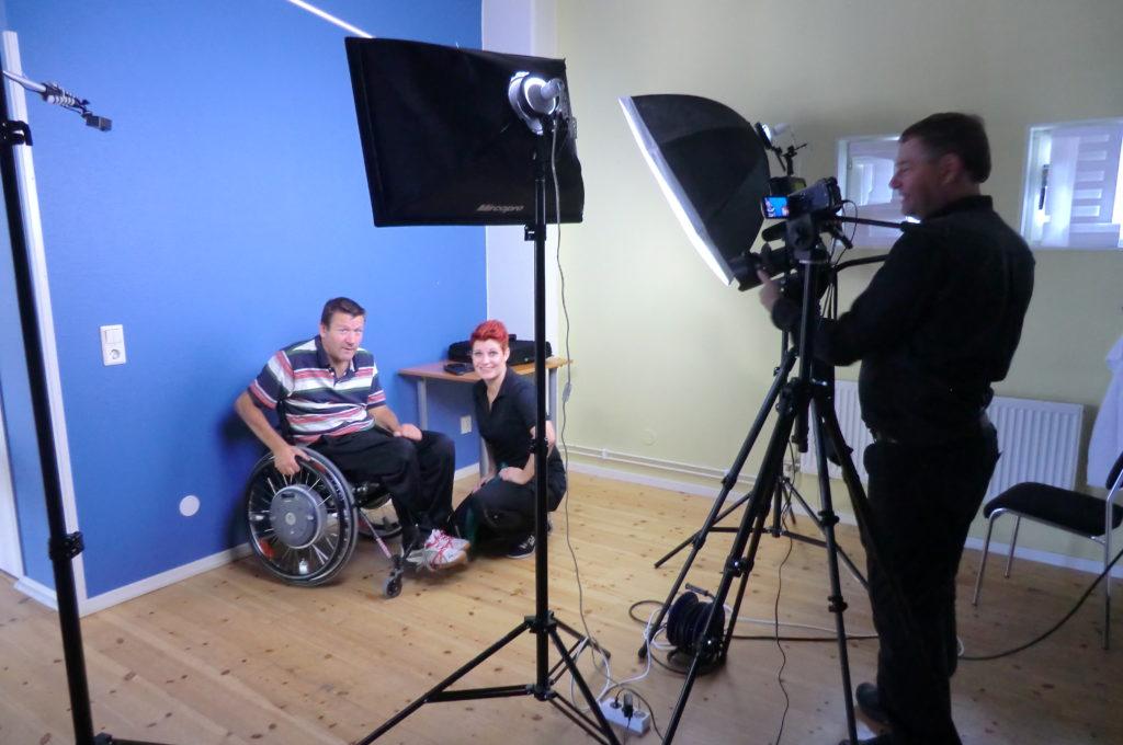 Filmning till nya trycksårs-skolan