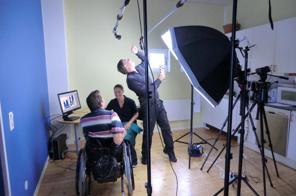 Filmning till nya trycksårs skola
