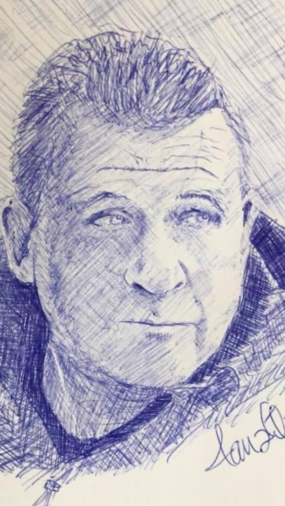 Porträtt Magnus, ritad avJan Nilson april 2018