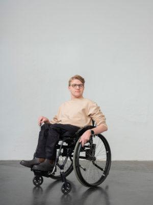 Byxor för personer som använder rullstol